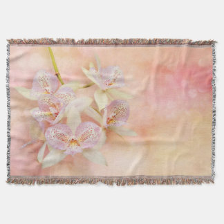 Orchid - Caulocattleya - The twinkle in my eye Throw Blanket