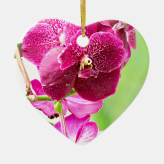 orchid ceramic ornament