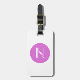 Orchid Circle Monogram Luggage Tag