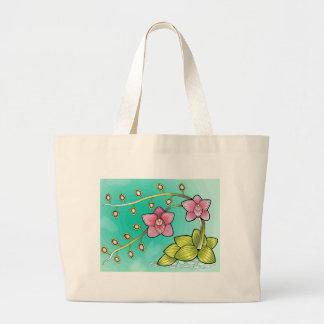 Orchid Color Large Tote Bag