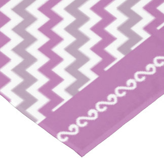 Orchid Colored Chevron Pattern- Tablecloth