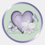 Orchid Elegance Round Sticker