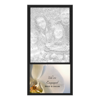 Orchid Elegance Wedding Engagement Announcement Photo Greeting Card
