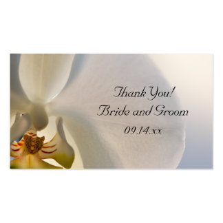 Orchid Elegance Wedding Favor Tags Business Card Templates