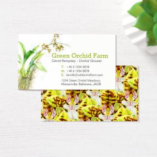 Orchid farmer / flower grower art business cards