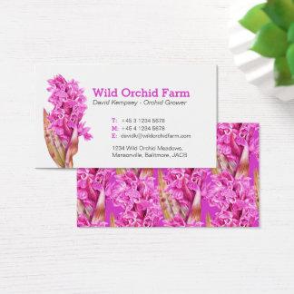 Orchid farmer / flower grower business cards