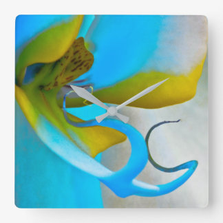 Orchid Flower Art Square Wall Clock