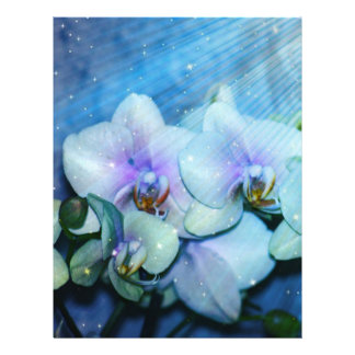 """Orchid Flower 8.5"""" X 11"""" Flyer"""