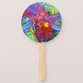 Orchid Flower Program Hand Fan