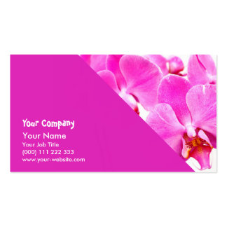 Orchid flowers closeup pack of standard business cards