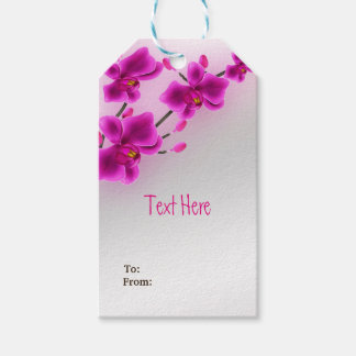 Orchid Flowers Elegant Floral Wedding Gift Tags