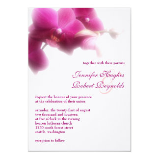 Orchid Formal Wedding Invitation