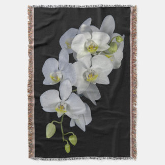 Orchid Garland Throw Blanket