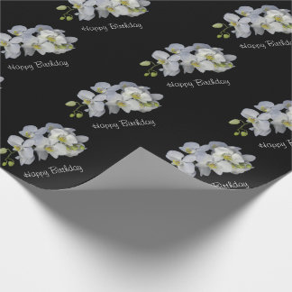 Orchid Garland Wrapping Paper - Birthday