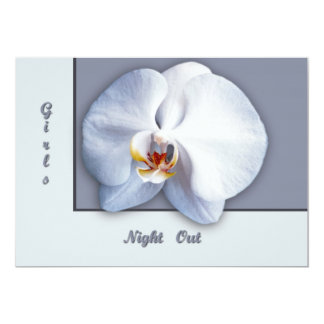 """Orchid Girls Night Out 5"""" X 7"""" Invitation Card"""
