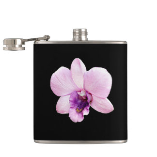 Orchid Hip Flask