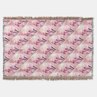 orchid in bloom throw blanket