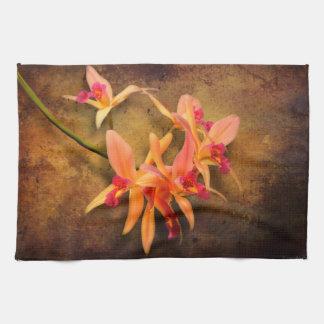Orchid - Laelia - It's showtime Tea Towel