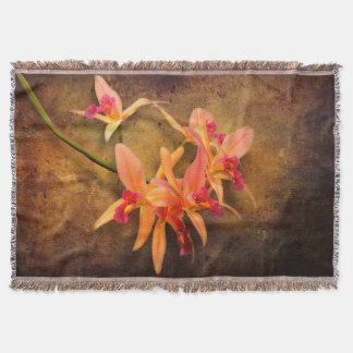 Orchid - Laelia - It's showtime Throw Blanket