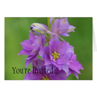 Orchid Larkspur Engagement Party Invitiation Greeting Card