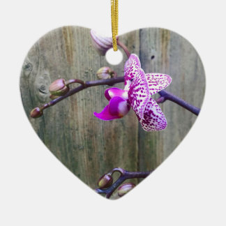 orchid love ceramic heart decoration
