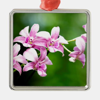 orchid metal ornament