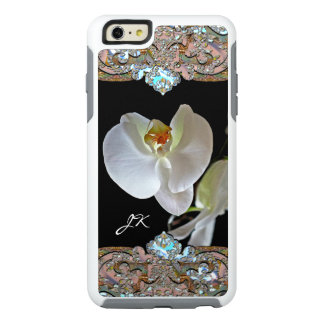 Orchid Monogram Pretty Floral Personalized OtterBox iPhone 6/6s Plus Case