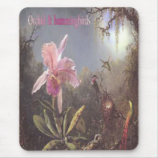 Orchid-n-hummingbirds mousepad
