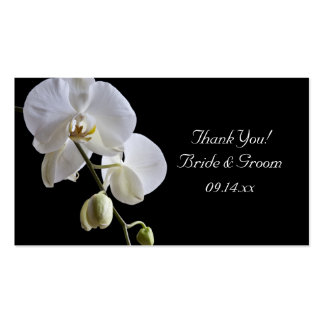 Orchid on Black Wedding Favor Tags Business Card Templates