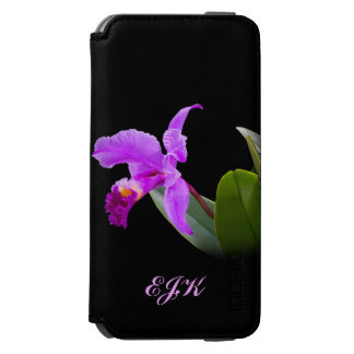 Orchid on Black with Customizable Monogram Incipio Watson™ iPhone 6 Wallet Case