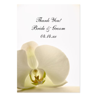 Orchid on White Wedding Favor Tags Business Cards