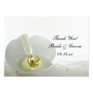 Orchid on White Wedding Favor Tags Business Card Templates