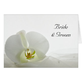 Orchid on White Wedding Invitation Card