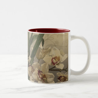 Orchid Painting Two-Tone Coffee Mug