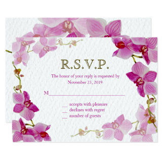Orchid Paradise, Response Cards
