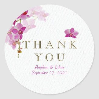 Orchid Paradise Thank You Stickers