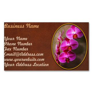 Orchid - Phalaenopsis - The moth orchid Magnetic Business Card