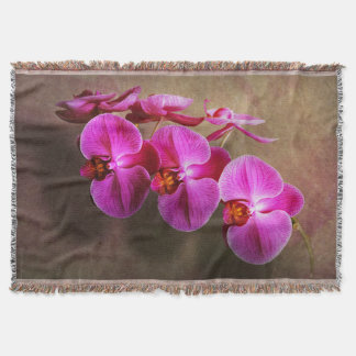 Orchid - Phalaenopsis - The moth orchid Throw Blanket