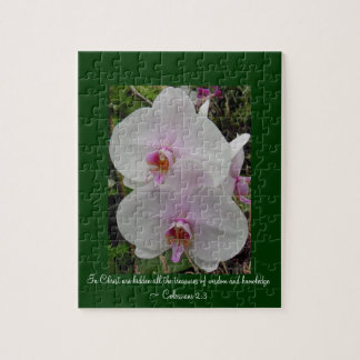 Orchid - Pink Blossom (Colossians 2:3) Jigsaw Puzzle