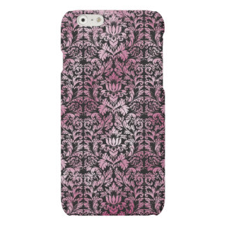 Orchid Pink Floral Damask Aged Print Pattern
