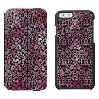 Orchid Pink Floral Damask Aged Print Pattern Incipio Watson™ iPhone 6 Wallet Case