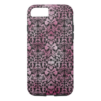 Orchid Pink Floral Damask Aged Print Pattern iPhone 8/7 Case