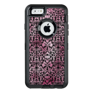 Orchid Pink Floral Damask Aged Print Pattern OtterBox Defender iPhone Case