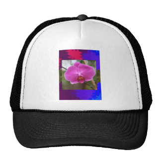 ORCHID pink Pearl Flower Love Romance Expression Mesh Hat