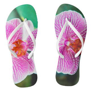 Orchid Pink Tropical Asian Flower Thongs