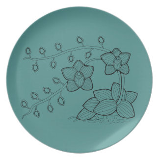 Orchid Plant Floral Plate