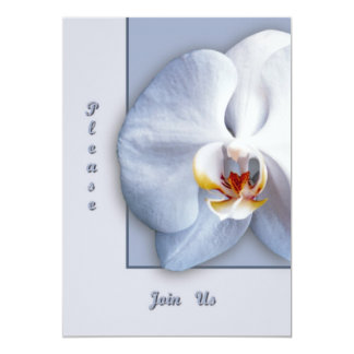 """Orchid  Please Join Us 5"""" X 7"""" Invitation Card"""