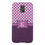 Orchid Polka Dot Monogram Samsung Galaxy S45 Case Galaxy S5 Cover