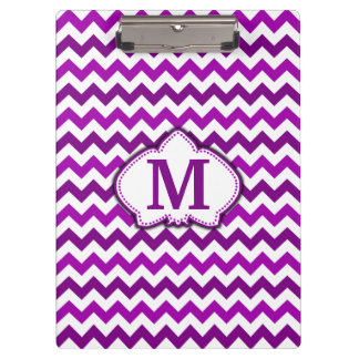 Orchid Purple Chevron Personalized Monogram Clipboard