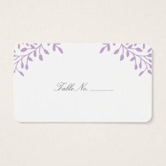 Orchid Purple Secret Garden Wedding Place Cards